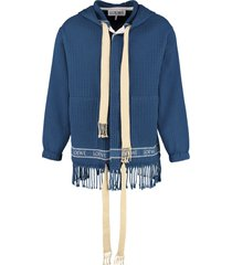 loewe knitted cotton jacket