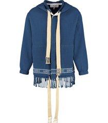 loewe knitted cotton jacket