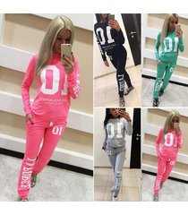 new autumn tracksuit for women ladies casual letter print sweatshirt long pants