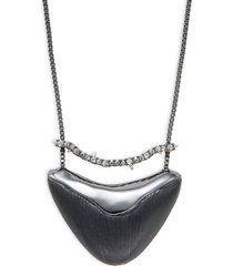 alexis bittar women's gunmetal, lucite & crystal pendant necklace