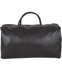 "20"" pebbled vegan leather carry-on travel duffle bag"