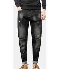 ripped harem pantaloni fit hip hop loew jeans per uomo