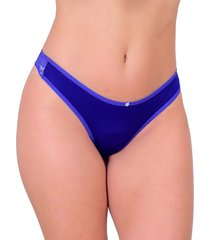 tanga sexy vip lingerie fio duplo azul - kanui