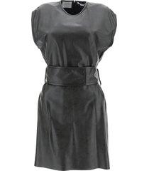 stella mccartney faux leather kimberly dress