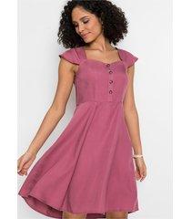 tencel jurk met knopen
