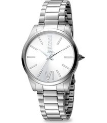 relaxed stainless steel bracelet watch