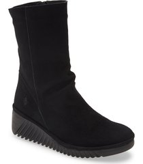 women's fly london lede bootie, size 11us - black
