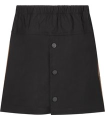 fendi black skirt with double ff for girl