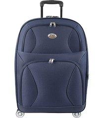 "maleta de viaje mediana rock 24"" azul - explora"