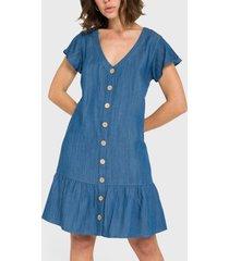 vestido io azul - calce holgado