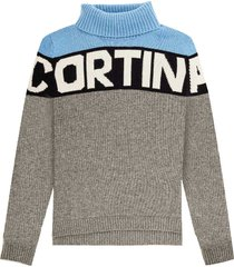 cortina striped sweater with turtle neck