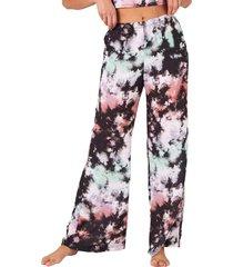 onzie women's freedom wide leg yoga pants - true romance tie dye small/medium spandex