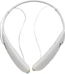 audífonos inalámbricos, auriculares audifonos bluetooth manos libres  estéreo universal con micrófono inalámbricos estilo cuello para el teléfono móvil (blanco)