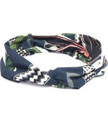 headband turbante bijoulux estampado azul - tricae