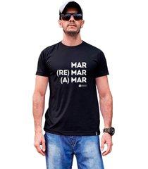 camiseta sustentã¡vel waveholic mar, remar e amar preta - preto - dafiti