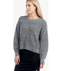 sanctuary women's sorry not sweater in color: marled black size xs from sole society
