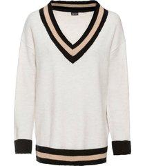 maglione con scollo a v (beige) - bodyflirt