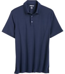 awearness kenneth cole navy pima cotton modern fit polo shirt