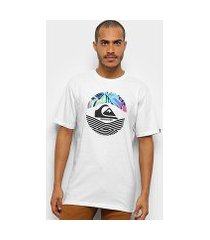 camiseta quiksilver on filter masculina
