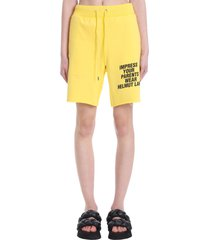helmut lang shorts in yellow cotton