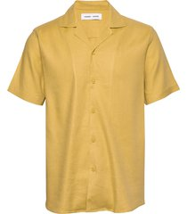einar sx shirt 11050 overhemd met korte mouwen geel samsøe samsøe