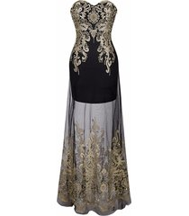 gatsby inspired vintage 1920's art deco prom cocktail transparent mermaid dress