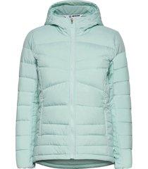 transition down hoodie w outerwear sport jackets blauw salomon