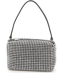 alexander wang heiress medium pouch crystal mesh