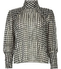 blouse met open rug baldwin  zwart