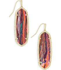kendra scott 14k gold-plated stone drop earrings