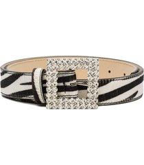 black & brown ava zebra print belt