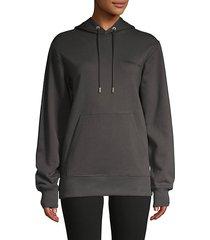 logo graphic stretch-cotton hoodie