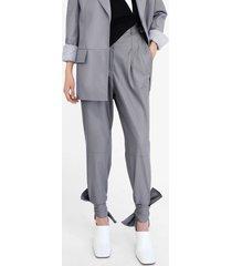 proenza schouler ankle tie leather pants grey 4