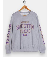 mens grey gray marl houston sweatshirt