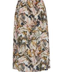 rok met zwierige zoomwijdte en blaadjesprint van peter hahn multicolour