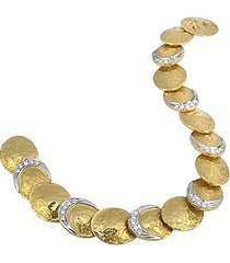 torrini designer bracelets, lenticchie - 18k gold and diamond bracelet
