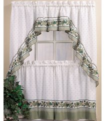 "chf cottage ivy 24"" window tier & swag valance set"