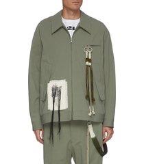 'room' tassel detail gabardine coach jacket