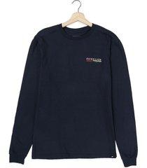 camiseta manga larga azul navy quiksilver retro lines mu1