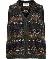nina vest vests knitted vests zwart wood wood