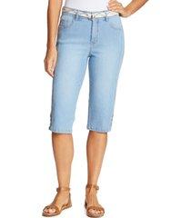 gloria vanderbilt petite mila belted skimmer jeans