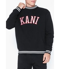 karl kani kk college crew tröjor svart/röd