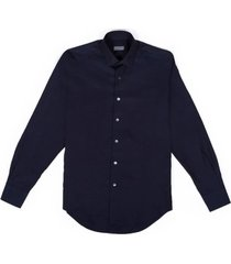 slim fit cotton shirt with hidden placket