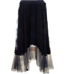 chloé lace asymmetric skirt