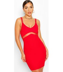bodycon mini dress, red