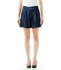 korte broek liu jo blue denim short rouches