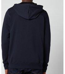 ps paul smith men's regular fit zip-through hooded sweatshirt - dark navy - xxl