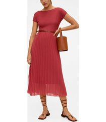 mango women's pleated hem dress