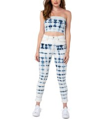 kendall + kylie juniors' high rise tie-dye skinny jeans