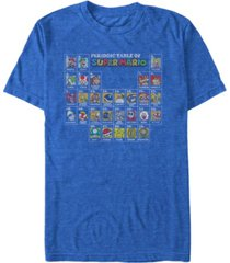 nintendo men's super mario the super periodic table short sleeve t-shirt